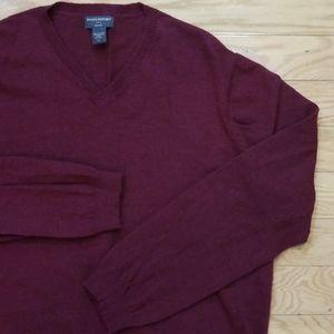 Banana Republic Merino Wool Maroon Sweater